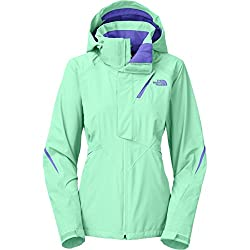 Northface 3-in-1 winter coat for women in teal and purple