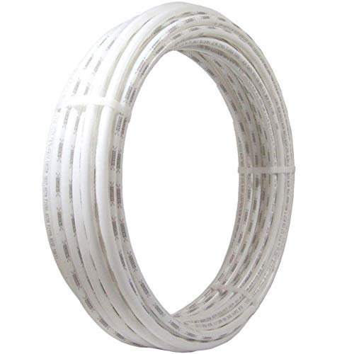 SharkBite U860W25 PEX Pipe 1/2 Inch, White, Flexible Water Pipe Tubing, Potable Water, Push-to-Connect Plumbing Fittings, 25 Feet Coil of Piping