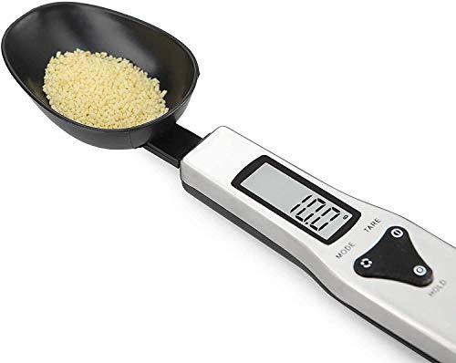 OBEST Báscula Digital para Alimentos, Cuchara de Medición Electrónica, Cuchara de Pesaje de Cocina con Pantalla LCD para Cocinar, Hornear, Harina, Especias, Medicina