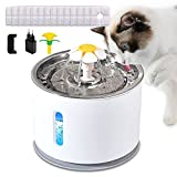 Forever Speed Dispensador de agua para mascotas, fuente para gatos y perros, bomba de agua silenciosa