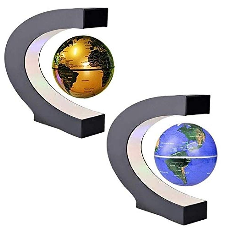 線形濃度雹ZYZRYP EUブルー浮上反重力グローブ磁気浮上グローブ世界地図LEDライトのために子供のギフトホームオフィスデスクデコレーション