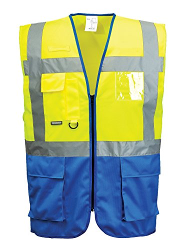 Portwest C476 Gilet Executive Varsavia, Giallo/Royal, XL