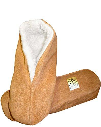 Sonia Originelli Hausschuhe echt Leder Puschen Mokassins Schluffis Gr.35-47 Leather Slippers B333 (38)