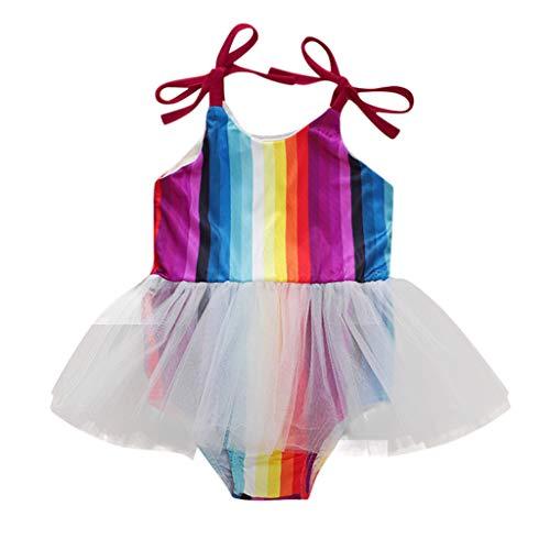 Buy SolwDa Fashion Cute Newborn Baby Girls Photography Props Lace Romper Multicolor Striped Suspende...