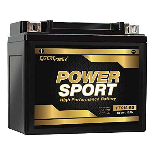 YTX12-BS Replacment battery Maintenance Free Battery Powersport Motorcycle ATV Scooter Snowmobile replace 2003 Honda TRX250 Recon, ES 250 CC Factory Activated ExpertPower