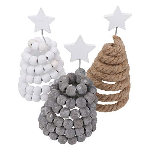 KESYOO 3 Peças de Ãrvore de Natal Frisada Mesa Decoração de Natal Linho Ãrvore de Natal Ãrvore de Natal Diy para Artesanato Decoração de Escritório Em Casa Peças Centrais de Natal