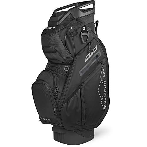 Sun Mountain 2020 C-130 5-Way Golf Cart Bag Black/Black