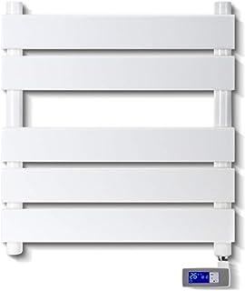 WZZJ Montado en la Pared eléctrico Calentador de Toallas con Pantalla LED Temporizador Incorporado en el Enchufe de cableado de Panel Plano eléctrico toallero radiador 455 x550mm