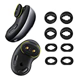 KPYJA 4 Pairs Silicone Ear Tips Replacement Galaxy Buds Live Earbuds Accessories (Black)
