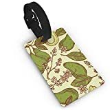 RZM YLY Blossoming Avocado Luggage Tag Travel Bag Suitcase Labels W/Privacy Cover Tags Travel ID Label for Bag with Strap
