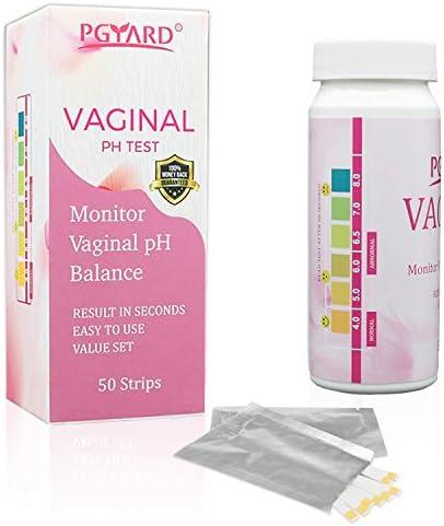 PGYARD 50 Strips Vaginal Health pH Test Strips Monitor Feminine Vaginal pH Balance Test Before product image