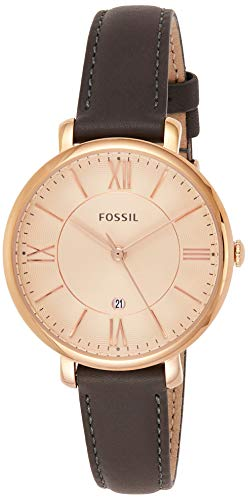 Fossil ES3707Jacqueline DREI Hand-Damen-Leder-Armband–Grau und Rosa Ton Gold