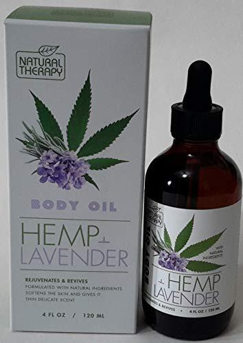 NATURAL THERAPY BODY OIL HEMP LAVENDER Rejuvenates & Revives - 4 FL OZ / 120 ML