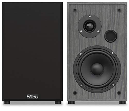 Wiibo - String 15 - Pareja de Altavoces HiFi - Potencia 100W - Altavoz Estantería - Sonido Profundo y con matices - 225 mm x 185 mm x 300 mm - Color: Negro