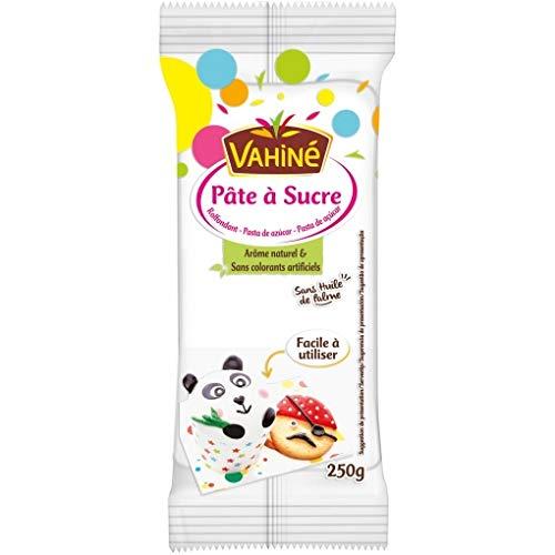 Vahiné - Fondant - Pasta de Azúcar- Aroma Natural Sin Colorantes Artificiales - Ideal para Reposteria - 250 Gra,ps