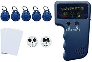 RFID 125KHz ID Card Reader Writer - RFID Copier EM4100 Reader Keyfob Duplicator Compatible with Proximity Card Including Key-fob 5pcs 3M Sticker 2pcs Blank Card 5pcs