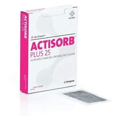 Actisorb Plus 6,5x9,5cm Carvão Ativado com Prata