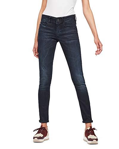 G-STAR RAW Damen Lynn Mid Waist Skinny Jeans, Blau (dk Aged 6545-89), 28W / 32L