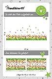 WandSticker4U®- Wandtattoo Blumenwiese TULPEN I Breite: 2.3M I Wandsticker Wiese Frühling Fenstersticker Blumen Gras Schmetterlinge Bordüre I Wand Deko für Wohnzimmer Kinderzimmer Flur Fenster - 6