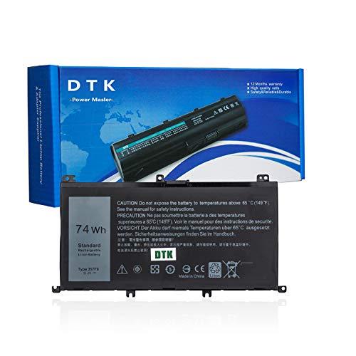 DTK Batería para Portátil del Inspiron 15 357F9 7000 7559 7557 7566 7567 5576 INS15PD-1548B 1548R 1748B 1748R 2548R 2548B 2748R Gaming Series Notebook 71JF4 0GFJ6 11.1V 74Wh