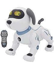 TTLIFE Robot Dog RC Robotic Stunt Puppy Controllo vocale Giocattoli K16 Smart Robot Dog RC Robot programmabile e danzante con suono Regalo interattivo per 6+ Età Ragazzi/Ragazze (Blu)