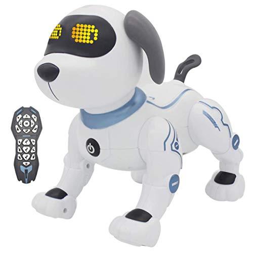TTLIFE Robot Dog RC Robotic Stunt Puppy Juguetes de control de voz K16 Smart Robot Dog RC Robot programable y de baile con sonido Regalo interactivo para niños/niñas de 6 años o más (Azul)