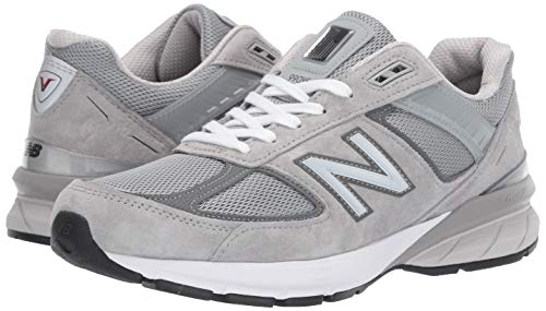 New Balance Men's Made in US 990 V5 Sneaker, Grey/Castlerock, 9.5
