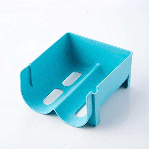 FairOnly Réfrigérateur Rangement Boîtes À Boissons Cuisine Réfrigérateur Économiseur D'espace Organisateur Creux Deux Grilles Potables Boîtes De Rangement en Plastique Bleu Casier à Boissons