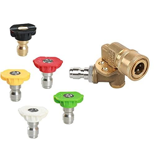 Kit de accesorios de la lavadora de presión de la herramienta 7 consejos de la boquilla de la lavadora eléctrica Rápida Conexión Pivotante 5-Paquete como se muestra