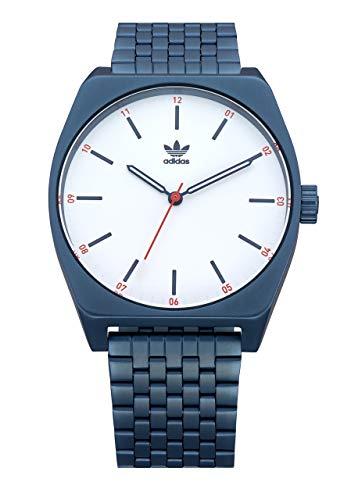 adidas Pulsera Relojes De Los Hombres Process_M1.6 Enlace De Acero Inoxidable, 20 Mm Anchura (0,38 Mm) Un Tamaño Navy/Silver Sunray/Rojo