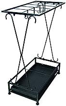 YAeele Paraplu thuis staan zwarte smeedijzeren 10 holes opbergrek Europese hangende paraplu magazijnstelling (Kleur: Zwa...