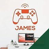 Wandaufkleber für Spielkonsole, Game Controller – XBox, Playstation, personalisierbar, mit Namen [Wald]