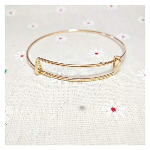 LZZR Moda Ajustable Cristal Doble corazón Bowknot Chain & Link Bracelets Mujer Joyería Regalo (Color : Black Gun Plated)