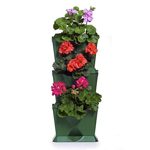 Minigarden One 1 Set per 3 Piante, Giardino Verticale Modulare e Espandibile, Posizionato sul Pavimento o Fissato al Muro, Sistema di Drenaggio Innovativo, Lungo Ciclo di Vita (Verde)