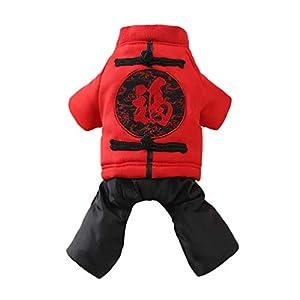 Balacoo vêtements pour Animaux de Compagnie pour Chien Chat Chiot Hoodies Manteau Hiver Sweat Chaud Pull Tenues Chien (Taille XS)
