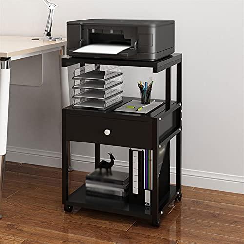 Soporte escritorio para soporte de impresora Marco de metal de soporte de la impresora de pie de 3 capas, escritorio de la impresora móvil, para la sala de estar de oficina Soporte de escáner de fax c