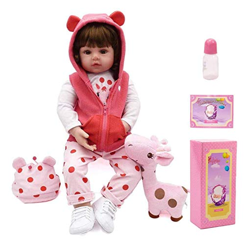 ALIPC Muñecas Reborn, Muñeco De Bebé Recién Nacido, Muñeco De Simulación, Juguete, Simulación De Silicona Suave, Cuerpo Completo, Vinilo, Chupete Magnético