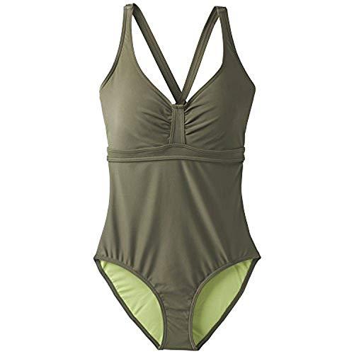 prAna Women's Aelyn Onepiece/D Cup Dress, Cargo Green, Size 36D/Medium
