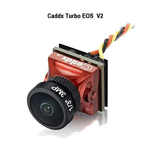 "Caddx FPV Camera Newest Turbo EOS V2 Mini FPV Action Camera 1200TVL FOV 160° Wide Angle 1/3"" CMOS 16:9 for FPV Quadcopter Racing Drone Red"