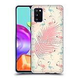 Head Case Designs Custom Customised Personalised Fab Flamingo Pattern Carcasa de Gel de Silicona Compatible con Samsung Galaxy A41 (2020)