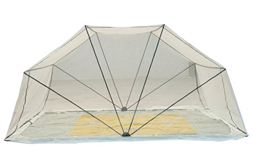 Sai Enterprises Comfort Net Foldable Mosquito Net For Healthy And Sound Sleep (Single Bed) - Off White