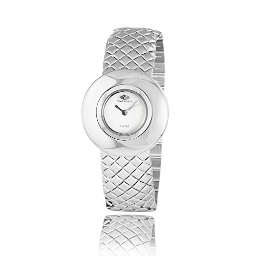 TIME FORCE Reloj Analógico para Mujer de Cuarzo con Correa en Acero Inoxidable TF2650L-02M-1