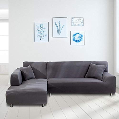 qianele - Funda elástica para sofá, con Forma de L, para sofá de Piel Universal