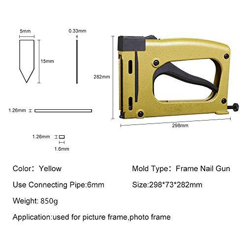YGMX Rahmen Zurück Platte Nail Gun Mit 1000Pcs Nagel Drahtlose Elektrische Staple Hefter Tacker Für DIY Handwerk Reparaturen,Frame Back Nail Gun