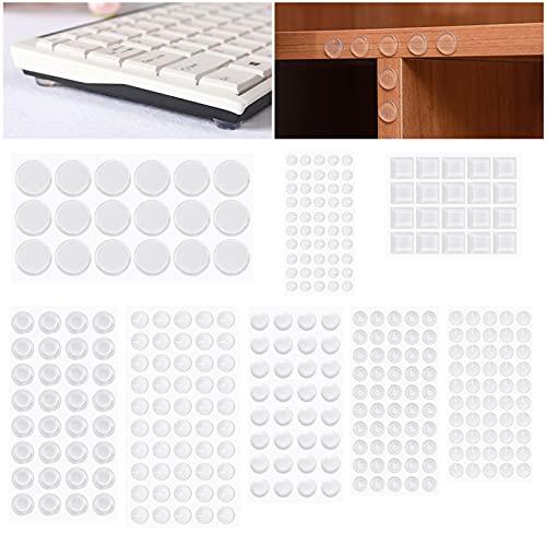 Lagrimas Silicona, GIKERSY 302 Piezas Topes Adhesivos Transparentes, Pies de Goma Transparentes, Almohadilla Autoadhesiva,Amortiguación de Ruido,protector antigolpes,búfer muebles