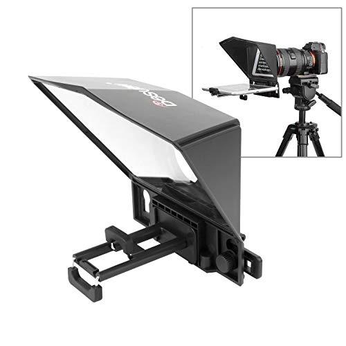 Desview T2 Teleprompter de alta definición de difusión para cámara o teléfonos inteligentes en vivo de transmisión de vídeo entrevista informe de magnificación de script