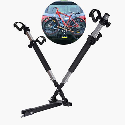 WVIVW X Portabicicletas Porton Trasero Universal 2 Bicis Interfaz Cuadrada Portabicis para...