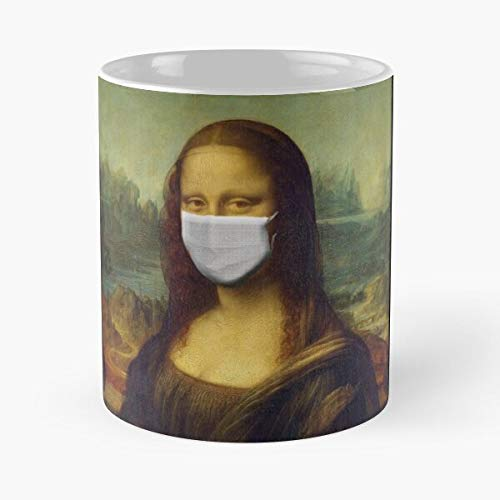 Mona Lisa Wear Mask Classic Mug - 11 Oz