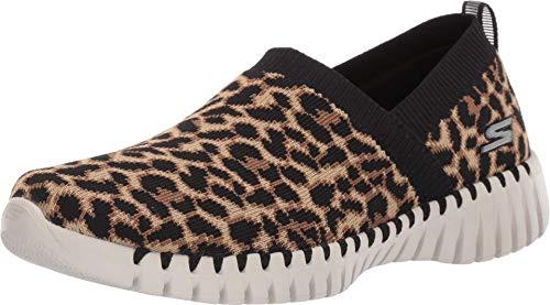 Skechers Women's GO Walk Smart-Safari Sneaker, Leopard, 6.5 Medium US