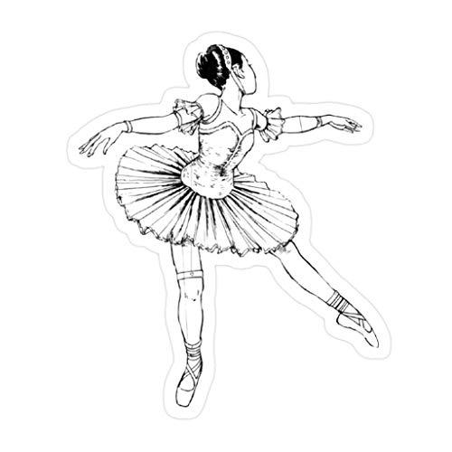 (3 PCs/Pack) Junji Ito Ballerina Die-Cut Stickers Decals for Laptop Window Car Bumper Helmet Water Bottle